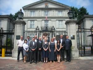 Delegates at the British Embassy