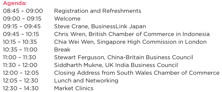 SWCC, South Wales, Doing business in Asia